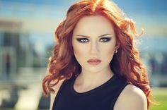 Redhead in fur top