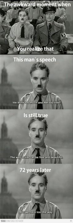 Thats why I love Charlie Chaplin