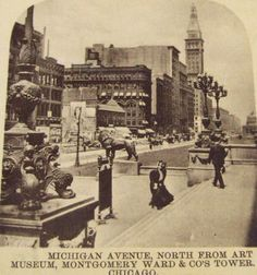 View north from the steps of the Art Institute, 1899, Chicago