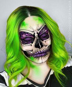 Magical Makeup, Scary Makeup, Skull Makeup, Makeup Looks, Eye Makeup, Butterfly Face Paint, Butterfly Makeup, Most Beautiful Butterfly, Makeup Face Charts