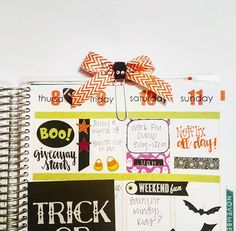 Made my first bow paperclip with a cute little spider! 🎃🎀 #planneraddicts #plannerlove #erincondren #eclifeplanner #eclove #plannernerd #washitape #weloveec #ecaddict #obsessed #plannergoodies #plannergeek #planning #HappyPlanner #thehappyplanner #MAMBI #giveaway #plannergiveaway #fallgiveaway #plannerfriends #halloween #halloweenplanner #halloweenstickers #plannerspread #bowpaperclips
