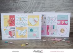 Inspirationsgalerie - Karten-Werkstatt - Scrapbook Werkstatt - Karten uas Papierresten von Christina Buresch-Leyer