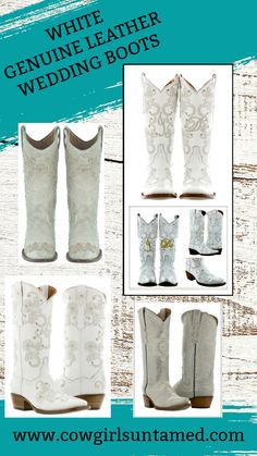 Say your I DO's in new GENUINE LEATHER Cowgirl boots! Allover design! Embroidery. Crystals. FREE USA SHIPPING w/FREESHIP21 COWGIRLS UNTAMED #boots #cowgirlboots #western #women #cowgirl #leather #horse #rhinestone #crystal #horseriding #IDO #studded #embroidery #wedding #bridal #white #offwhite #cream #silver #gold #cowboyboots #fashion #style #freeshipping #deal #outfit #clothing #westernwear #rusticwedding #bridal #onlineshopping #westernwedding #cowgirlstyle #countrywedding #ridingboots Cowgirl Style Outfits, Cowgirl Fashion, Boho Fashion, Fashion Ideas, Fashion Outfits, Plus Size Cowgirl, Cowboy Christmas, Wedding Boots, Bohemian Accessories