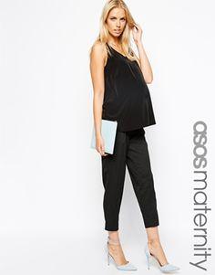 ASOS Maternity Work Wear Relaxed Peg Trouser