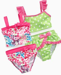 Again, if I didn't care about protectio from the sun, I'd get the green and pink one. Penelope Mack Baby Swimwear, Baby Girls Pattern Bikini - Kids Baby Girl months) - Macy's Source by Swimwear Baby Swimwear, Baby Bikini, Baby Girl Swimsuit, Bikini Girls, Baby Kids Clothes, Toddler Girl Outfits, Toddler Fashion, Kids Outfits, Baby Girl Patterns