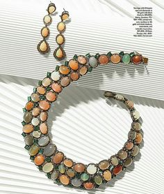 Best in Show: Our Favorite Moments, Stones, and Finds From JCK Las Vegas 2016 Opal Jewelry, Jewelry Art, Fine Jewelry, Fashion Jewelry, Jewellery, Las Vegas Shows, Beaded Bracelets, Diamond Necklaces, Swarovski Crystals