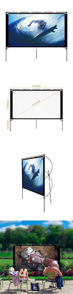 Projection Screens and Material: Outdoor Projector Screen - Foldable Portable Outdoor Front Movie Screen, Setup -> BUY IT NOW ONLY: $82.99 on eBay!