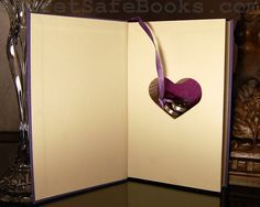 Hollow Book Safe with Heart (LOVE STORIES).