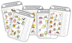 Le mot et l'image - Educational Activities French Kids, French Classroom, French Language Learning, Inference, Busy Bags, Learn French, Educational Activities, Special Education, Kids Learning
