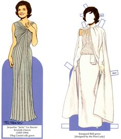 Fashions of the First Ladies Paper Dolls from Dover Publications