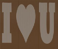 Cut And Fold Book folding pattern of I Love You by BookArtCo
