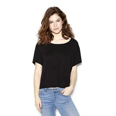 Cropped Pocket Tee.