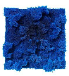 Blue straws, 2013 °° Francesca Pasquali Mixed Media, cm 70 x 70 x 26 / in 27.6 x 27.6 x 10.2