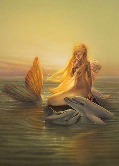 Print Painting ,Siren Song,Mermaid ,Abstract, GIGLEE .ART. Canvas art print