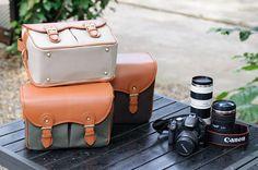 Nikon Camera Bag, Light Grey Canvas Camera Bag The DSLR Canon by JilsBag, $56.99... want sooooooooo badly