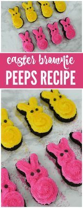 Easter Brownies Peep Rezept perfekt für Klassenfeiern Osterfeiern Osterdesser Brownies, Peeps Recipes, Easter Recipes, Desserts Ostern, Easter Desserts, Brunch, Easter Party, Healthy Dinner Recipes, Cake