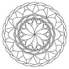 Free Mandala coloring pages for adults!