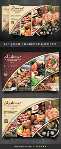 Create amazing flyers for your restaurant or cafe by customizing easy to use templates. Ready-made restaurant flyer templates and create awesome designs Restaurant Advertising, Restaurant Poster, Restaurant Menu Design, Advertising Flyers, Restaurant Restaurant, Advertising Design, Design Poster, Flyer Design, Banner Design