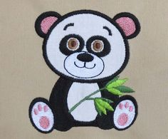INSTANT DOWNLOAD Panda Baby Machine Embroidery by EmbroideryLand