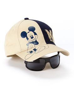 Loving this Sand & Navy Mickey Collegiate Baseball Hat & Sunglasses - Boys on #zulily! #zulilyfinds