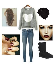 """""""Simple Vampy Outfit"""" by teenager-in-distress ❤ liked on Polyvore featuring UGG Australia and Frame Denim"""