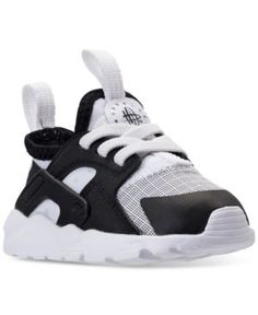 4ea14fb9998 Nike Toddler Boys  Air Huarache Run Ultra Running Sneakers from Finish Line  - WHITE BLACK 10