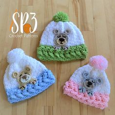 6d55e6f52e755 Ravelry  Sleep Tight Teddy Bear Hat pattern by Sweet Potato 3 Crochet  Mouse