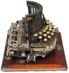 "Martin Howard from Toronto's Howard Collection writes, ""The Salter is one of England's first typewriters and is a stunning example of a piece of Victorian engineering. It was made by Th…"