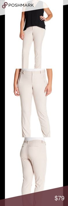 "🆕 NYDJ Sandrah slim fit trousers ➕ - Zip fly with button closure - Banded waist with elasticized sides - Faux front and back besom pockets - Solid color - Approx. 11.5"" rise, 32.5"" inseam - Imported Fiber Content 75% polyester, 20% viscose, 5% elastane Care Machine wash cold, line dry Fit: this style fits true to size. Brand new with tag. NYDJ Pants Trousers"