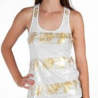 Daytrip Sequin Front Tank Top