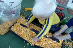 Sensory Activity : Hauling Corn - - Pinned by #PediaStaff.  Visit http://ht.ly/63sNt for all our pediatric therapy pins