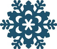 silhouettes of snowflakes - Google Search