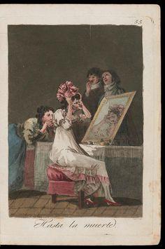 "Hasta la muerte. (Until Death); Plate 55 bound into ""Los Caprichos"" | Museum of Fine Arts, Boston"