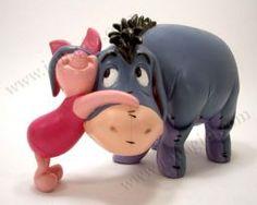 Figurine Winnie the Pooh Eeyore and Piglet cuddling Eeyore Pictures, Winnie The Pooh Pictures, Winnie The Pooh Friends, Disney Winnie The Pooh, Baby Disney, Winnie The Pooh Figurines, Disney Figurines, Eeyore Quotes, Disney Snowglobes