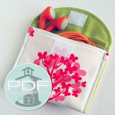 Easy wallet - 3 sizes - earbud, iPhone iPod 4 5, cash pouch case sewing pattern - great for beginners - PDF INSTANT DOWNLOAD