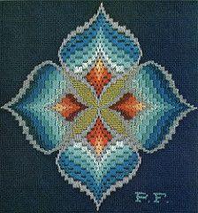 bargello magic - blue cymbidium | by gilliflower