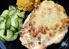Dupla sajtos csirkemell Camembert Cheese, Dishes, Chicken, Food, Tablewares, Essen, Meals, Yemek, Dish