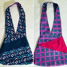 Marie créations sur Instagram: 2 sacs en 1 avec ce fourre-tout réversible de forme trapèze. A porter à l'endroit ou à l'envers selon l'humeur. Une poche extérieur devant…