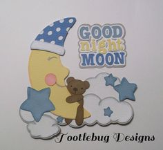 TOOTLEBUG DESIGNS - Good Night Moon paper piecing for scrapbook page