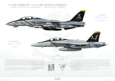 Deployment Productions VF-103 to VFA-103 Jolly Rogers Transition print