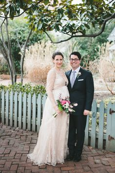 Emlyn in her custom wedding dress by Jill Andrews Gowns
