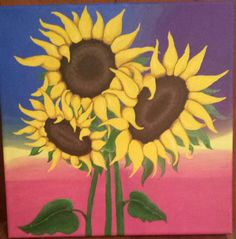 More sunflowers in acrylic May 2017