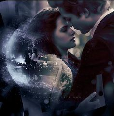 Bella Swan and Edward Cullen at the prom......