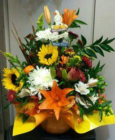 Halloween floral arrangement