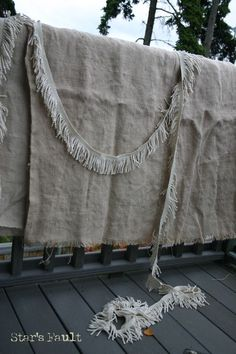 Washing Burlap - the blog associated with this pin is a great read with lots of lovely ideas