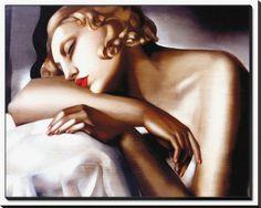Śpiąca kobieta Oprawiona reprodukcja na płótnie autor Tamara de Lempicka w AllPosters.pl