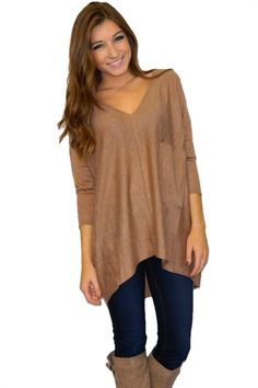 Keep Calm Sweater (Camel) | Girly Girl Boutique