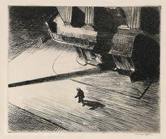 Night Shadows - Edward Hopper - 1921 - Etching