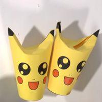 Traktatieknutsel - Schattige Pikachu met popcorn. Trakteren op school wordt een echt feestje met deze schattige Pikachu's om rond te delen!