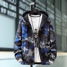 Jacket Men, Rain Jacket, Spring Jackets, Fashion Prints, Camouflage, Windbreaker, Street Wear, Men Fashion, College